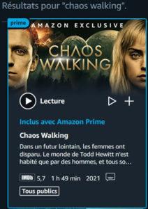 Chaos Walking Prime