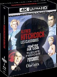 Coffret 4 films Hitchcock 4K
