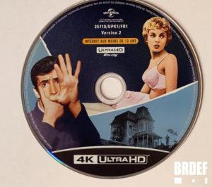 Psychose disque 4K d'échange